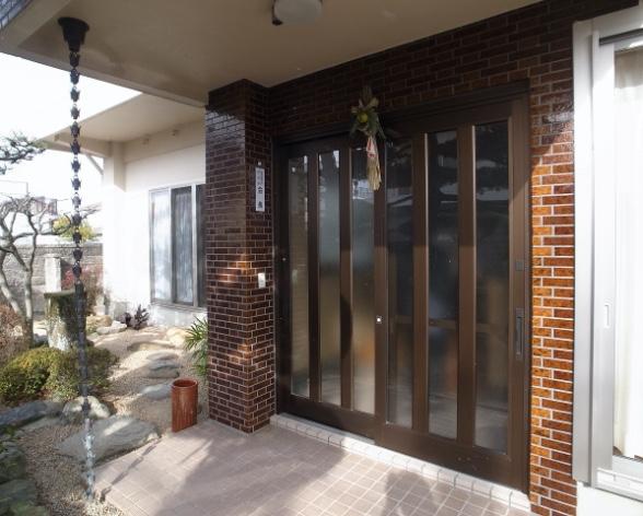 防府市東仁井令町の玄関、リビング・内装リフォーム